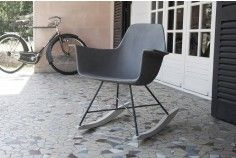 The Concrete Hauteville Rocking Chair Draws Inspiration From An Iconic  Mid Century Design With A Modern Twist. Constructed Using A Concrete Shell  And Rebar ...