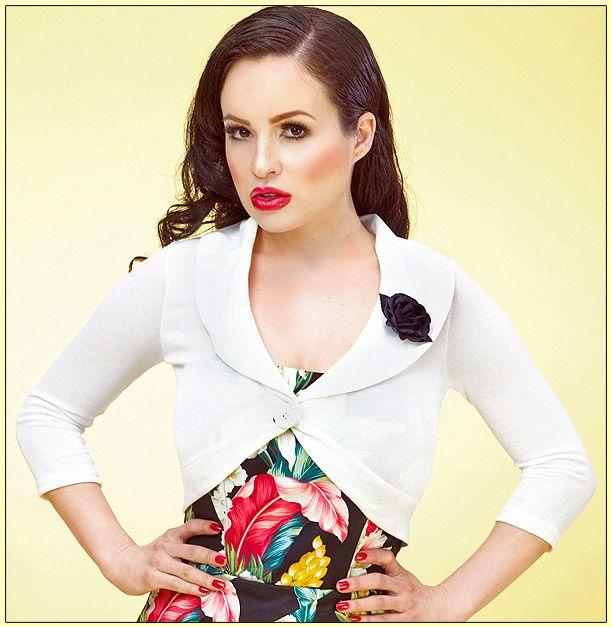 Cream Rose Shrug Sweater