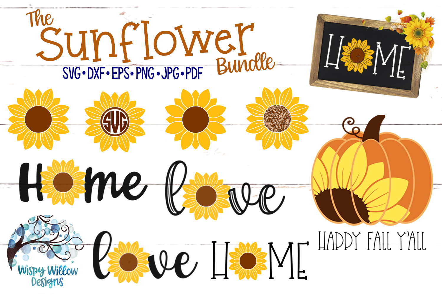 Sunflower SVG Bundle Autumn Fall SVG Bundle Svg