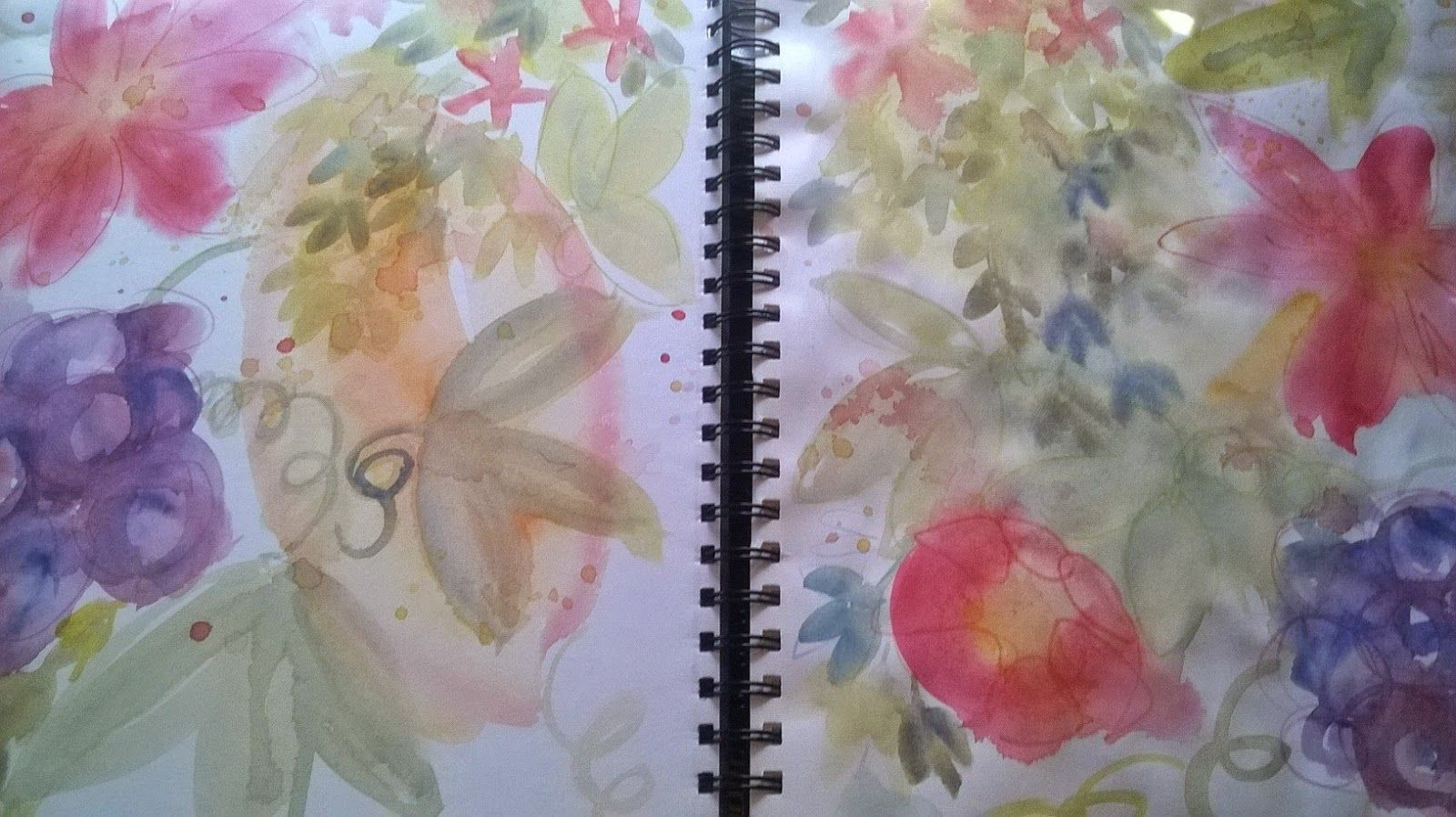 PAINTING IN TUSCANY: Floral sketchbook!