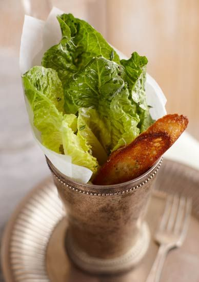 Individual Caesar Salad Serving Love This Idea For An