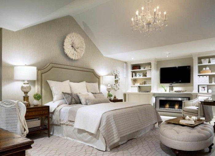 Schlafzimmergestaltung ideen ~ Deko ideen schlafzimmer beige wände offene regale wanddeko