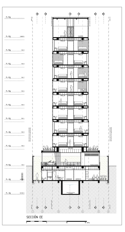 Hotel Room Plan: Click Clack Hotel / Plan B Arquitectos