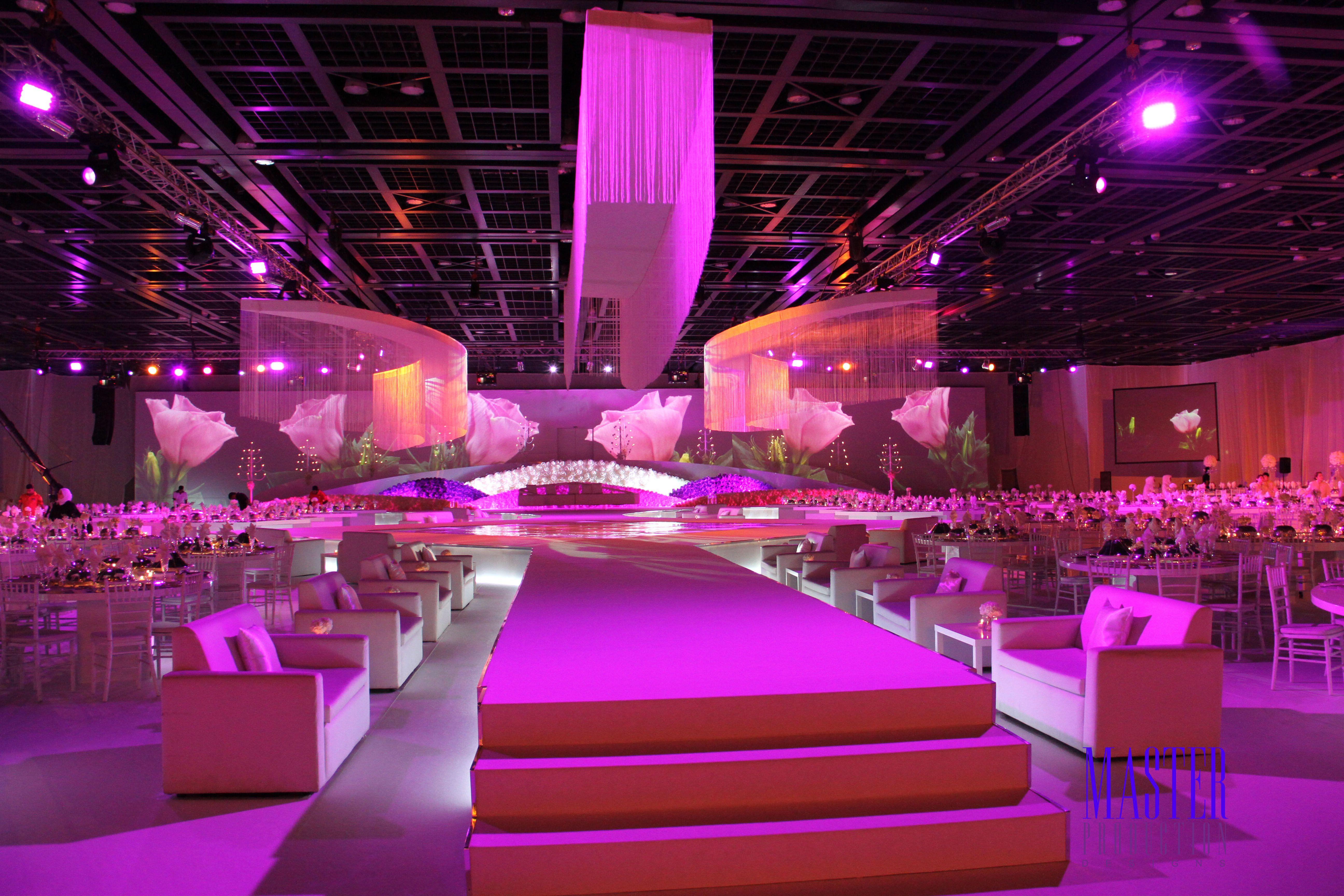 Wedding stage decoration dubai  Arabic wedding set up in Dubai  porm party  Pinterest