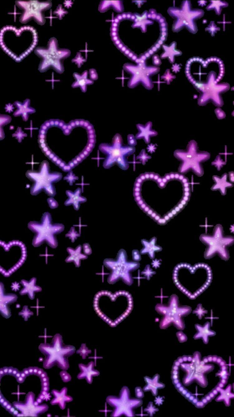 169 2016 cute purple hearts pattern wallpaper my purple