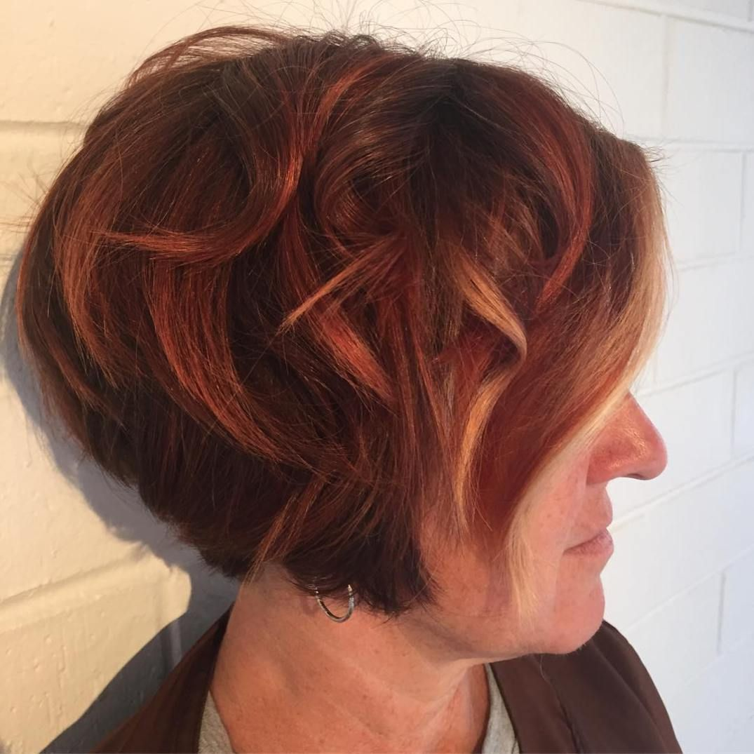 classy and simple short hairstyles for women over auburn bob