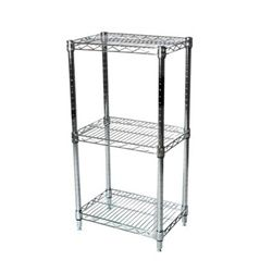 Industrial Wire Shelving Unit With 3 Shelves 12 D Wire Shelving Units Shelving Racks Wire Shelving