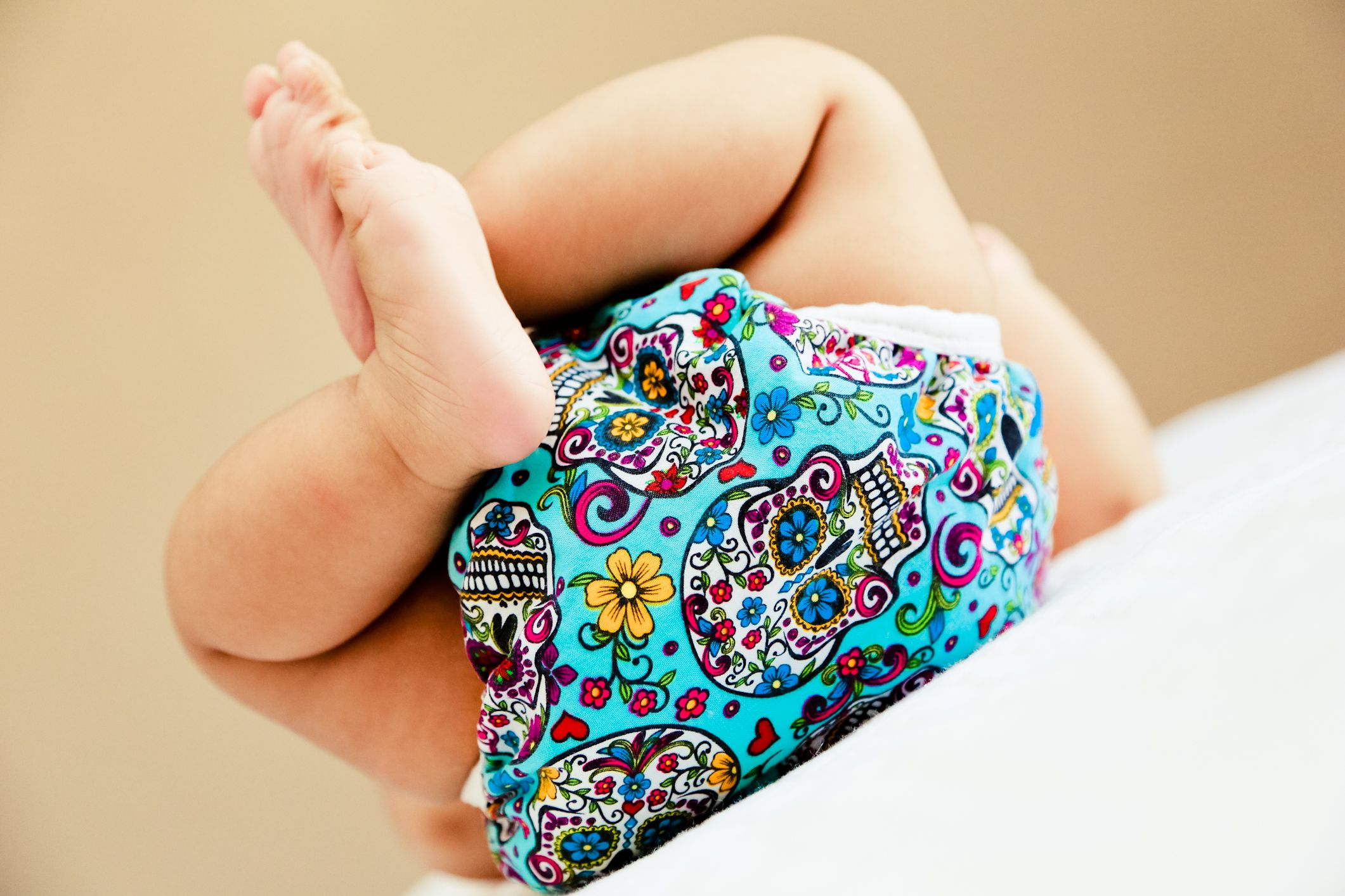 Sugar Skulls Blue Diaper Cover [sugarskullsbluedipe] - $14.50 : Zookaboo!, Handcrafted for You