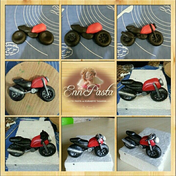 Fondant motorcycle cakes pinterest cake tutorials and motorbike cake for Motorbike template for cake