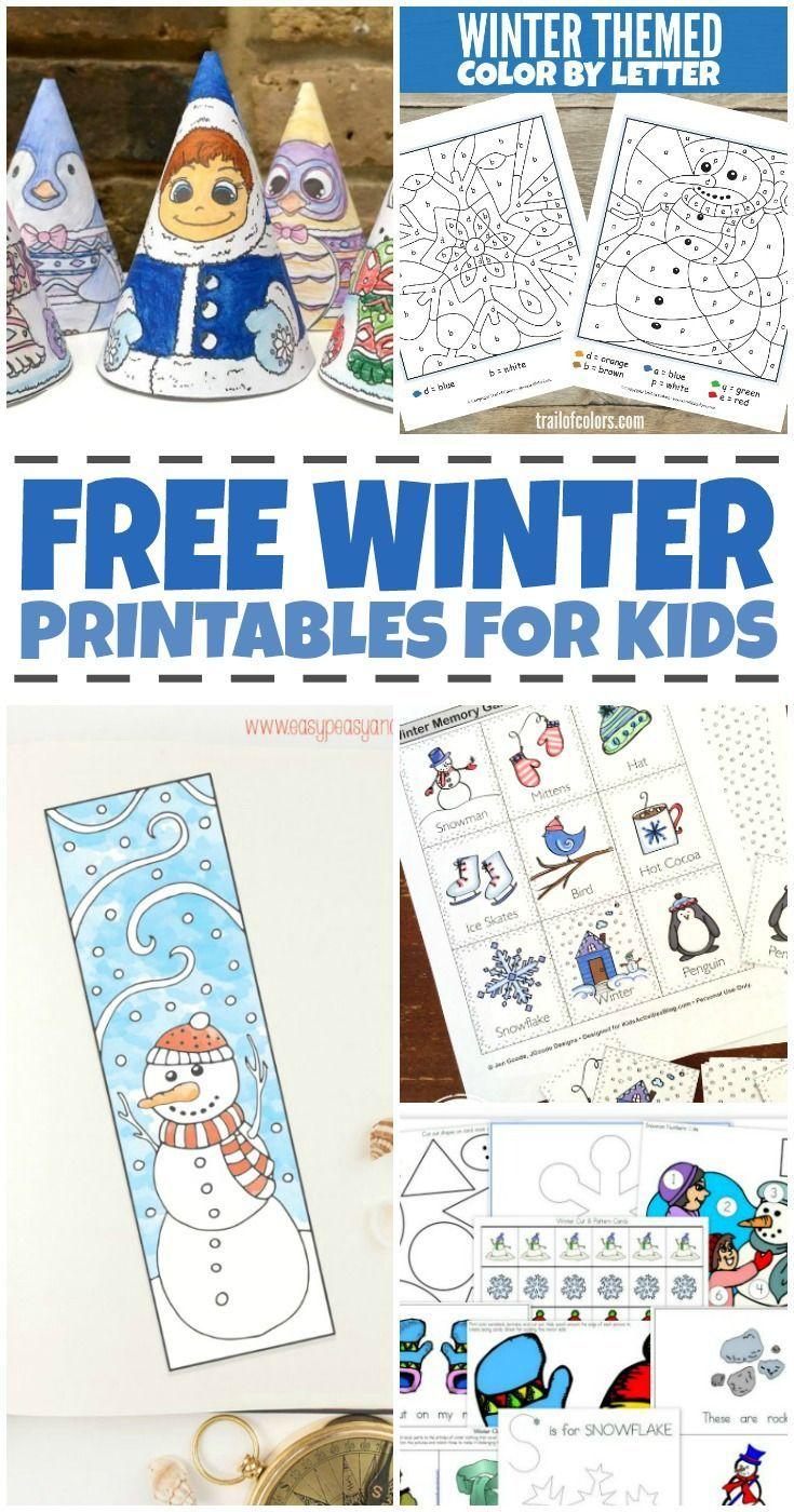 Workbooks winter worksheets kindergarten : Free Winter Worksheets for Kids | Worksheets, Winter and Free