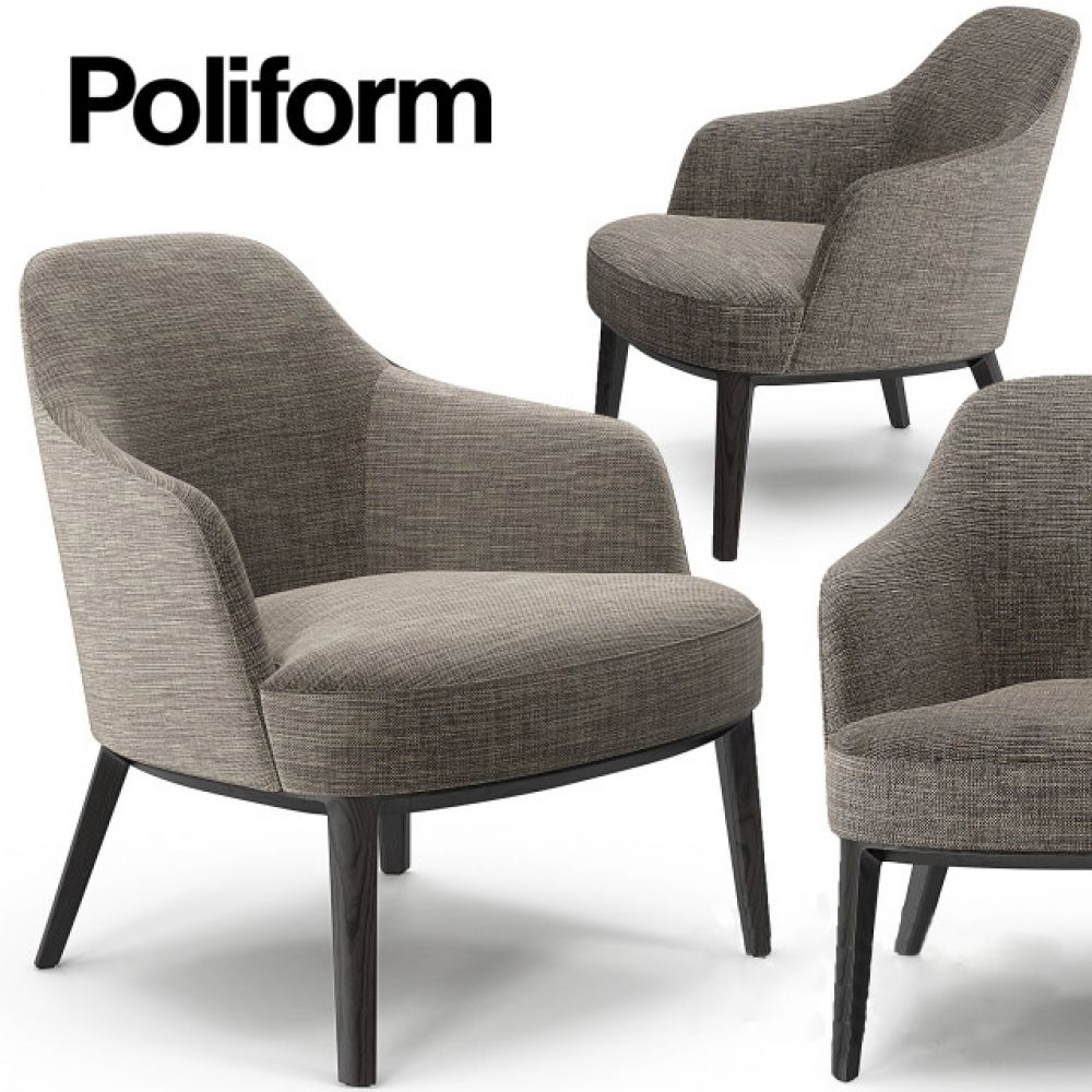 Poliform Jane Armchair 3d Model With Images Armchair Poliform