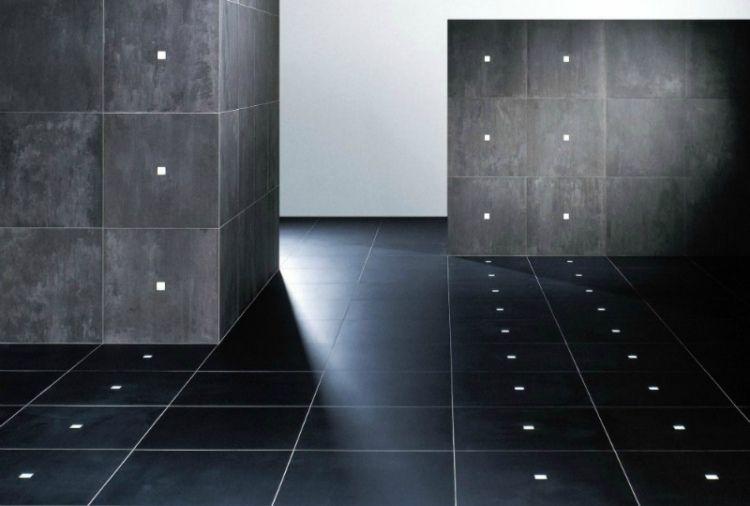 Fußboden Beleuchtung Bad ~ Led leuchten integriert in fußboden und wänden beleuchtung innen