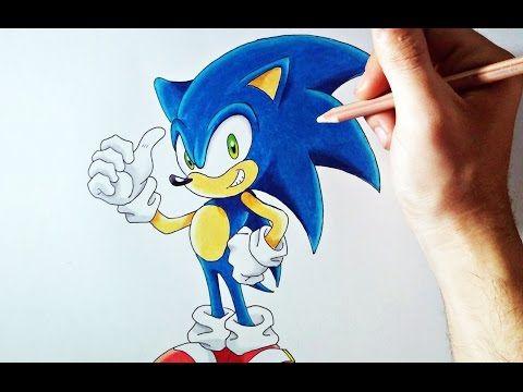 Dibufacil Aprende A Dibujar A Sonic Para Principiantes Artemaster Youtube Aprender A Dibujar Dibujos De Colores Materiales De Dibujo
