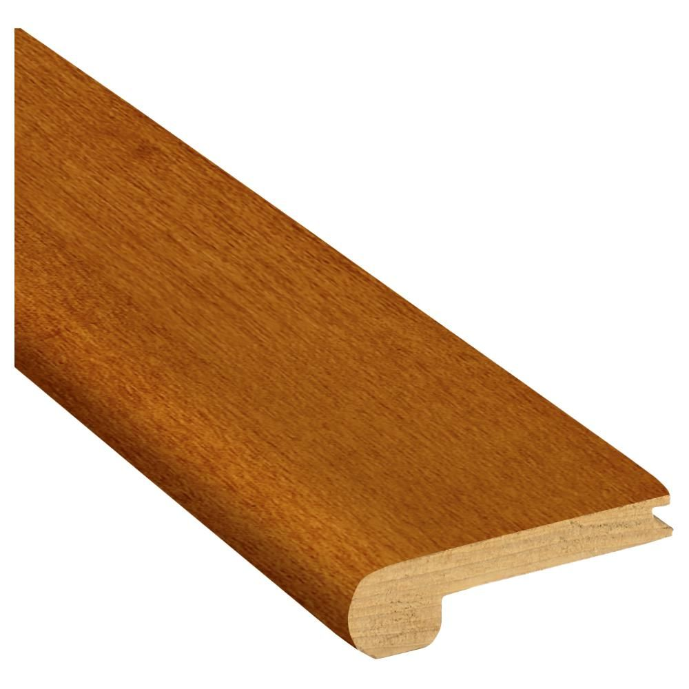 Bruce Gunstock 3 8 In Thick X 2 3 4 In Wide X 78 In Length Red Oak Stair Nose Molding T83131141 Stair Nosing Wood Molding Trim Installing Hardwood Floors