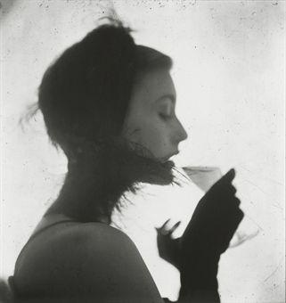 Irving Penn, Girl Drinking (Mary Jane Russell), 1949