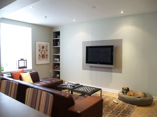 Paint Around A Wall Mounted Tv To Frame Home Wall Mounted Tv