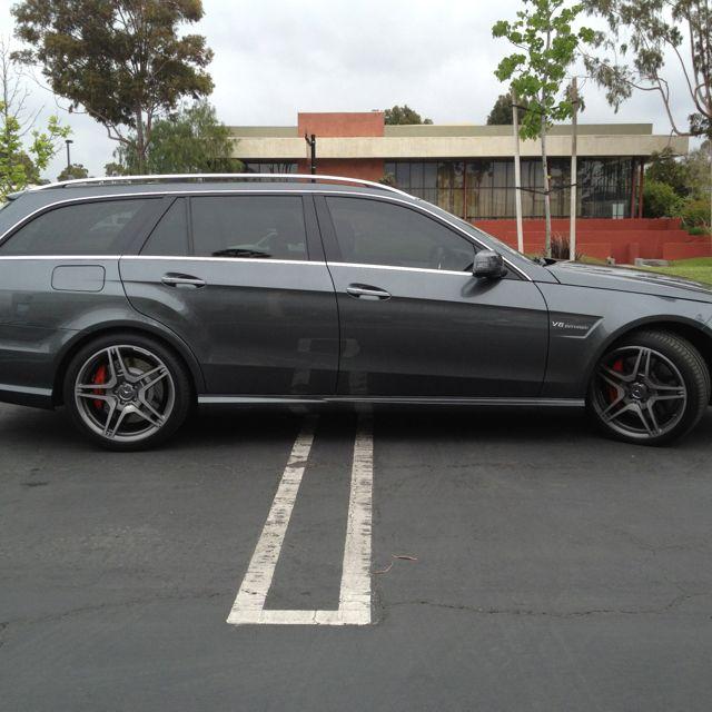 '12 E63 AMG wagon w/ Pinnacle Series window film! Tintplus.com