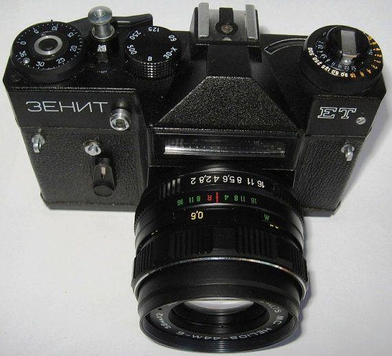 Sovetskij Zerkalnyj Fotoapparat Zenit Et Ot Homeatmosphere