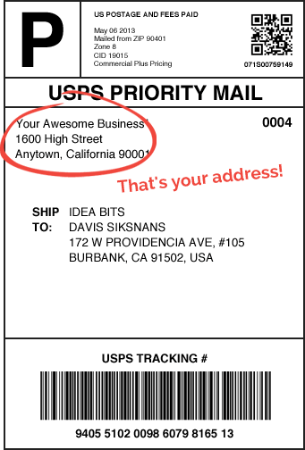Usps Shipping Label  TShirt Design    Products