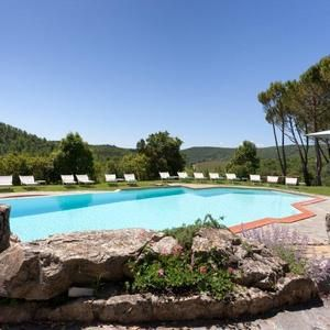 Tuscany: lovely swimming pool at 4 Star Hotel Castello di Spaltenna - Gaiole in Chianti, Italy