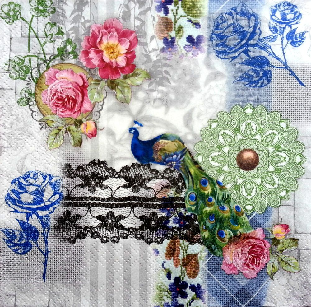 4x Paper Napkins for Decoupage Decopatch Craft Happy summer time