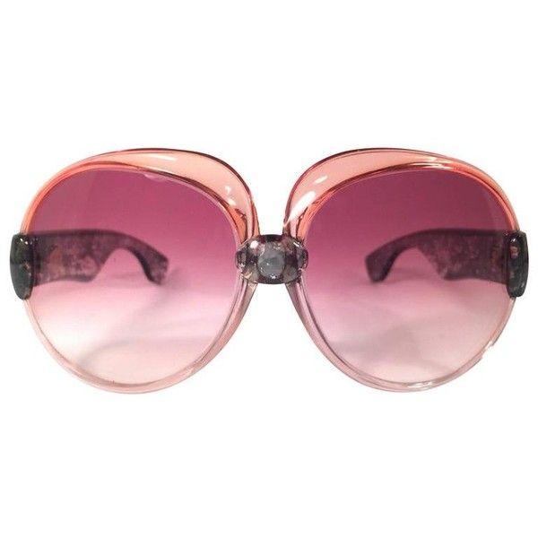 4d64d996e01 Preowned New Vintage Yves Saint Laurent Ysl 541 Translucent Amber 1970  France Sunglasses