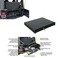 Tuffy Underseat Full Length Locking Drawer 87 06 Wrangler Yj Tj Tuffy 130 01 Jeep Tj Jeep Yj Jeep