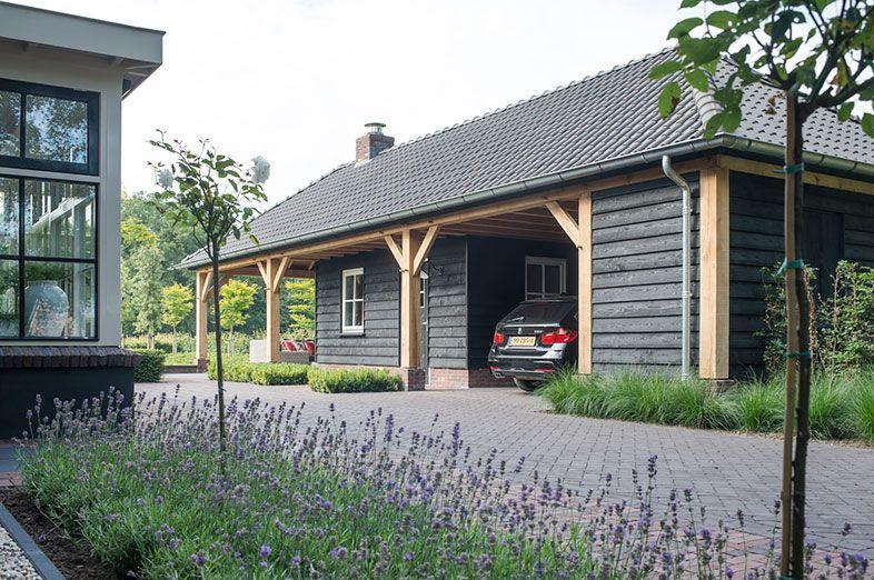 Garage Met Veranda : Buytengewoon villatuinen klassiek landelijke tuin met