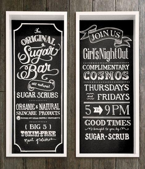 Chalkboard Spa Menu  Spa Menus    Spa Menu