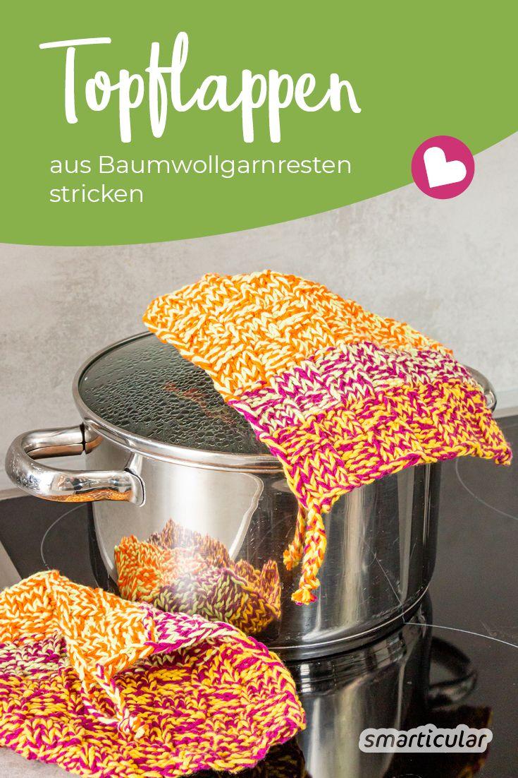 Photo of Topflappen aus Baumwollfadenresten – waschbar und ohne Kunststoff