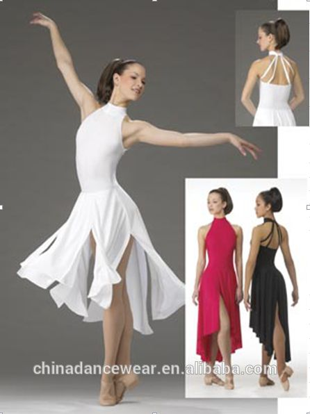 263039ff2b7c Woman lady girl lyrical dance dress costume skirt contemporary modern  dancewear recital competition performance