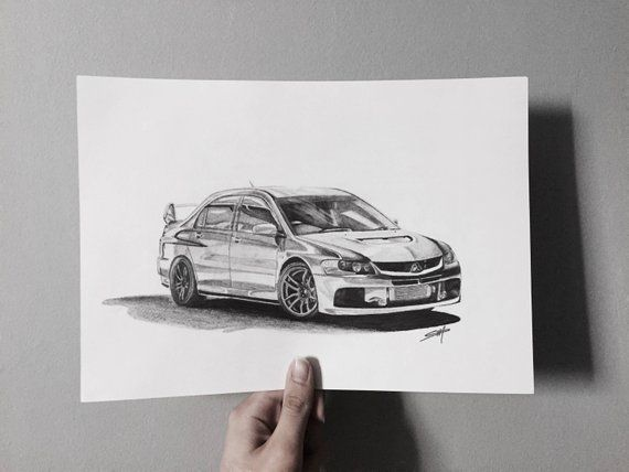 Car drawing from photo Personalized car sketch illustration | Etsy