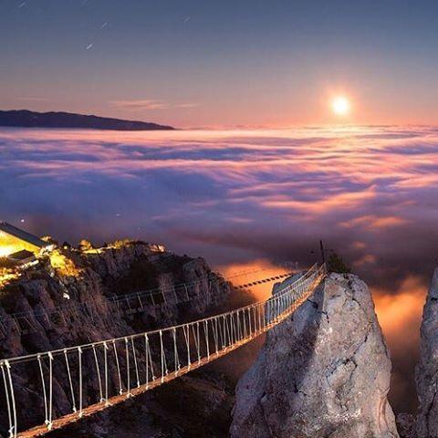 Bridge on Mount Ai-Petri, Crimea, Ukraine