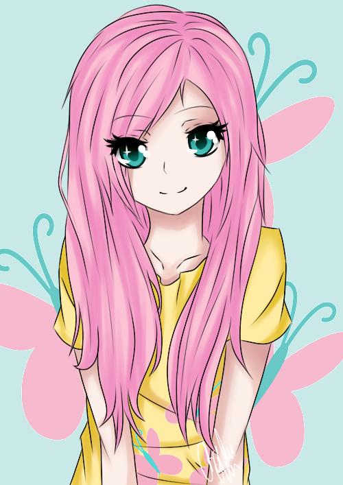 Fluttershy by Otakuchan666 My Little Pony Human Version