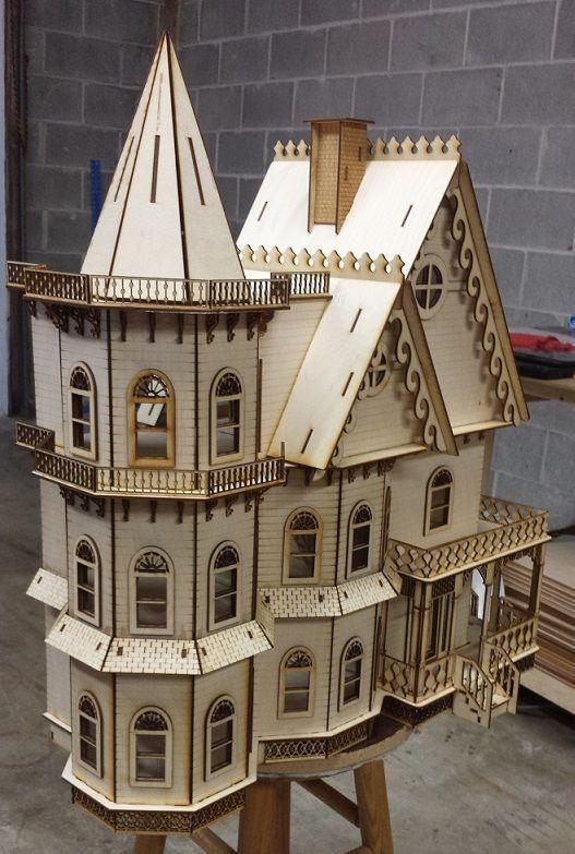 Leon Gothic Victorian 1 24 Scale Half Inch Scale Laser Cut