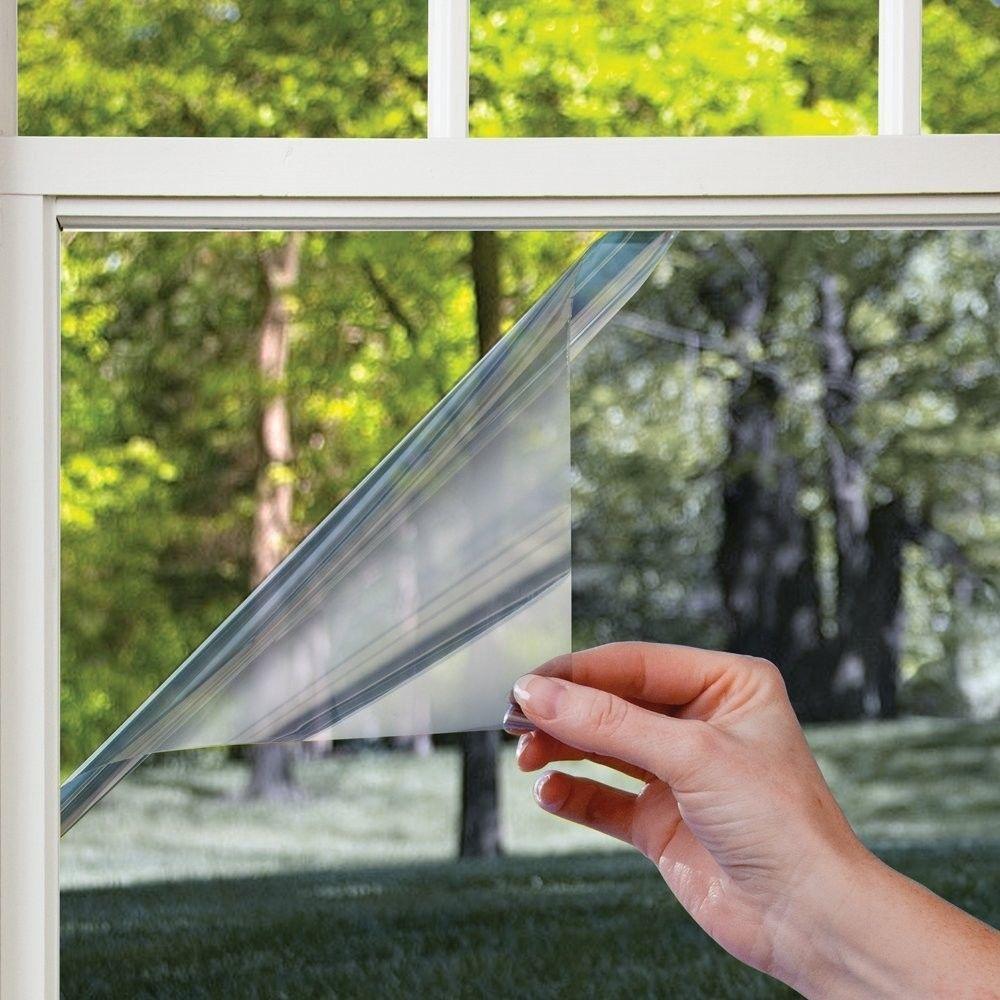 10m Reflective Glass Film Insulation Film One Way Mirror Film Sunscreen Transparent Window Stickers 40c Mirrors Film Residential Window Film Mirror Window Film