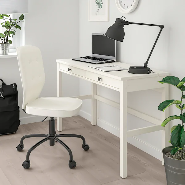 LILLHÖJDEN Swivel chair, white Idemo Blekinge white IKEA
