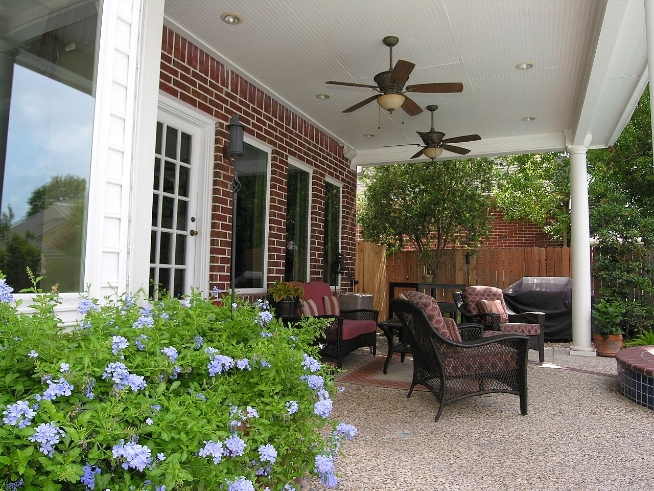 Brick Pebbled Slab Solid Cover With Fans Outdoor Fans Patio Patio Patio Fan