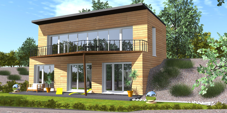 Modèle méditation cette maison de deux niveaux répond à la problématique des terrains pentus on