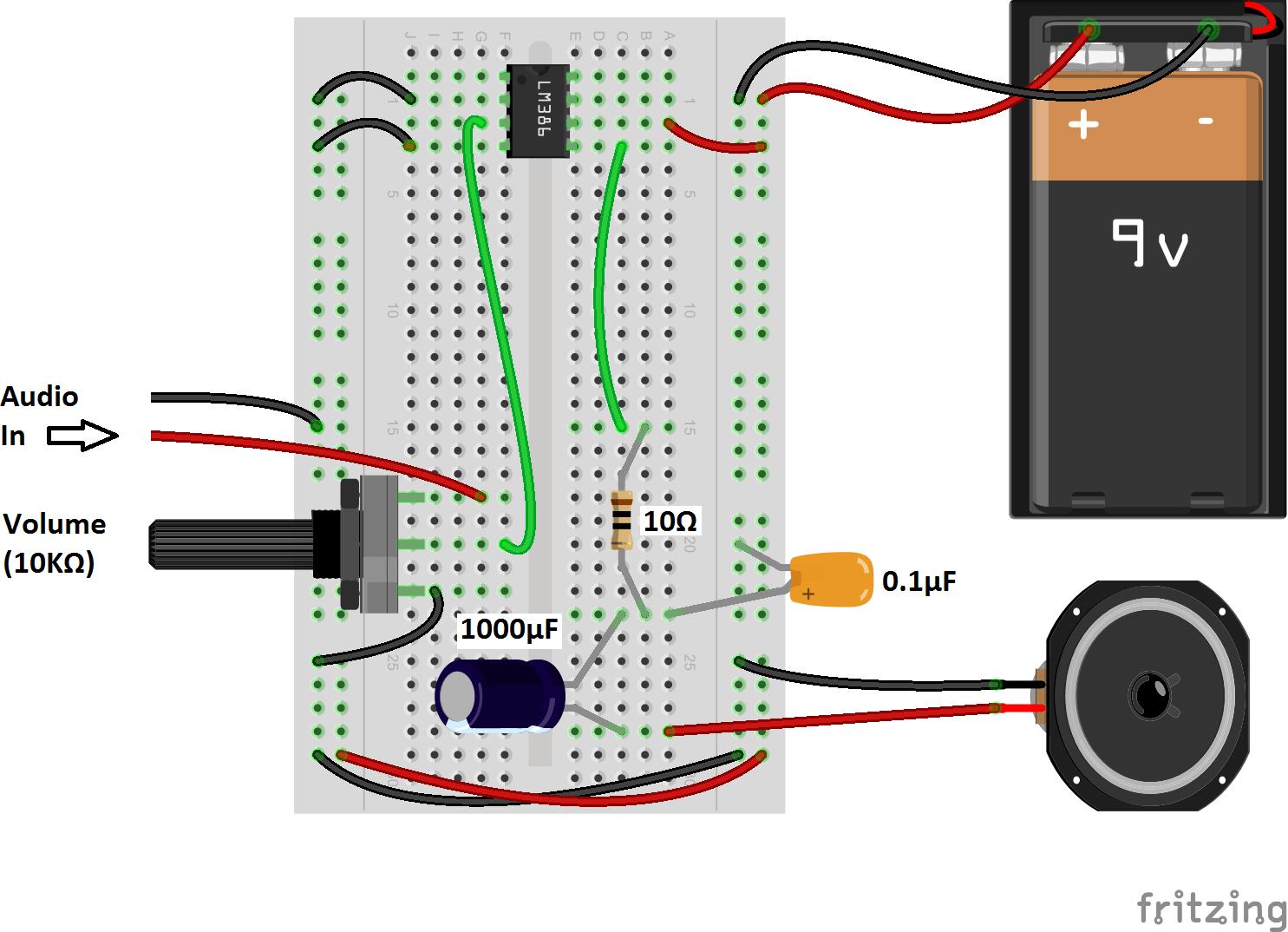 Lm386 Guitar Amp Circuit