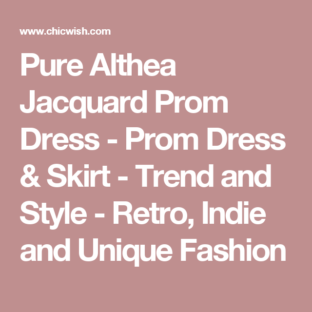 Pure Althea Jacquard Prom Dress - Prom Dress & Skirt - Trend and Style - Retro, Indie and Unique Fashion