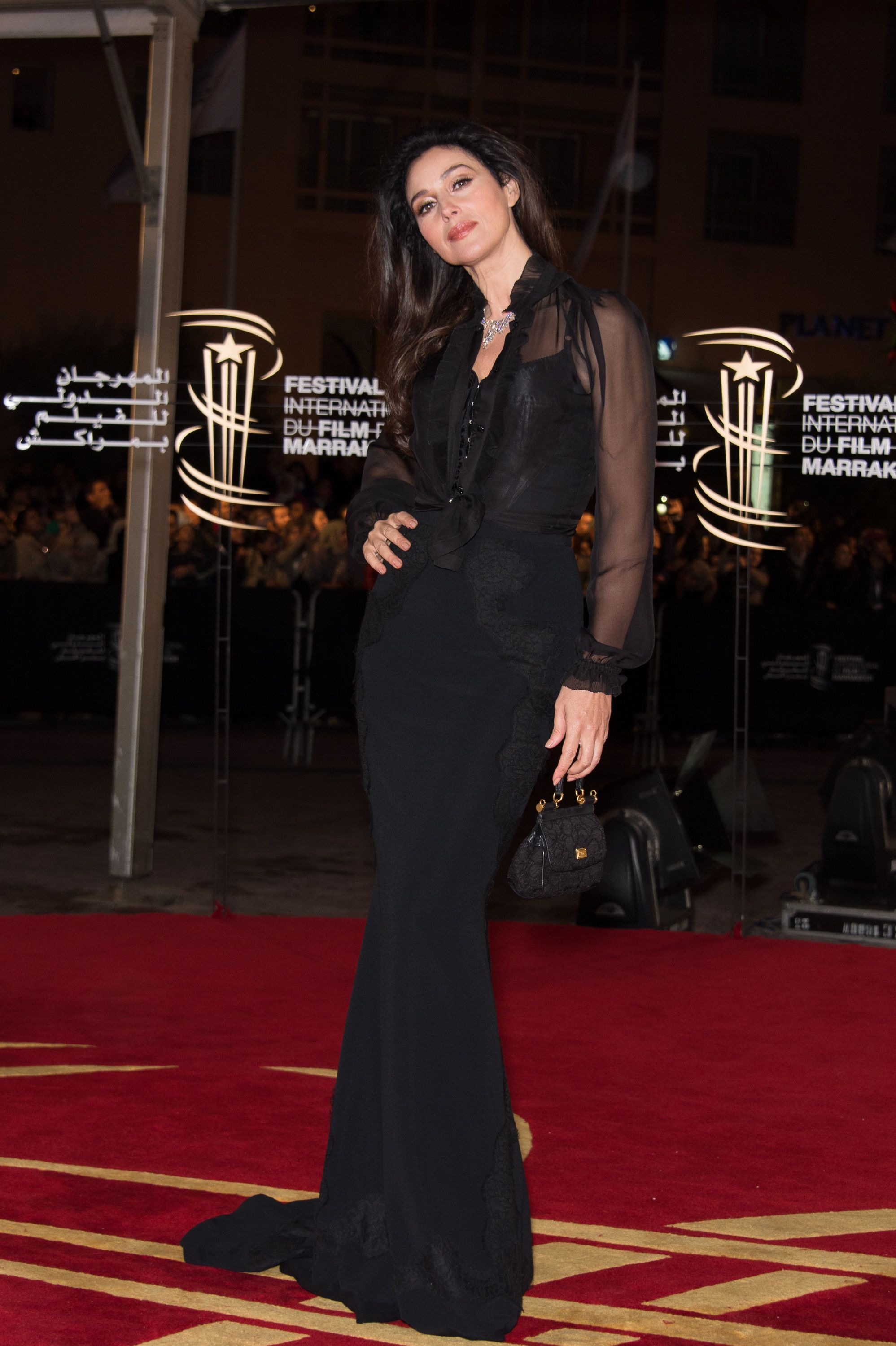 Monica Bellucci In Dolcegabbana At The Marrakech Film