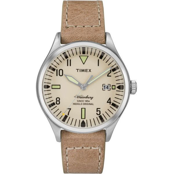 Timex 38MM Watch (555 RON) ❤ liked on Polyvore featuring jewelry, watches, stainless steel jewelry, timex watches, stainless steel watches, stainless steel jewellery and water resistant watches