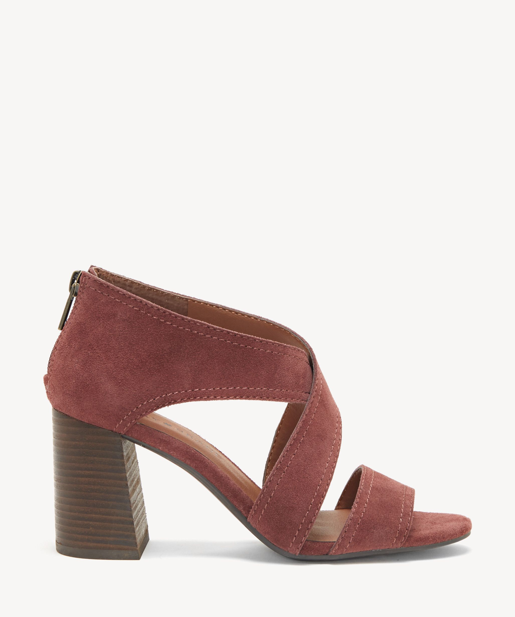 b73cf7834656 Lucky Brand Women s Vidva Criss Cross Sandals In Color  Burgundy