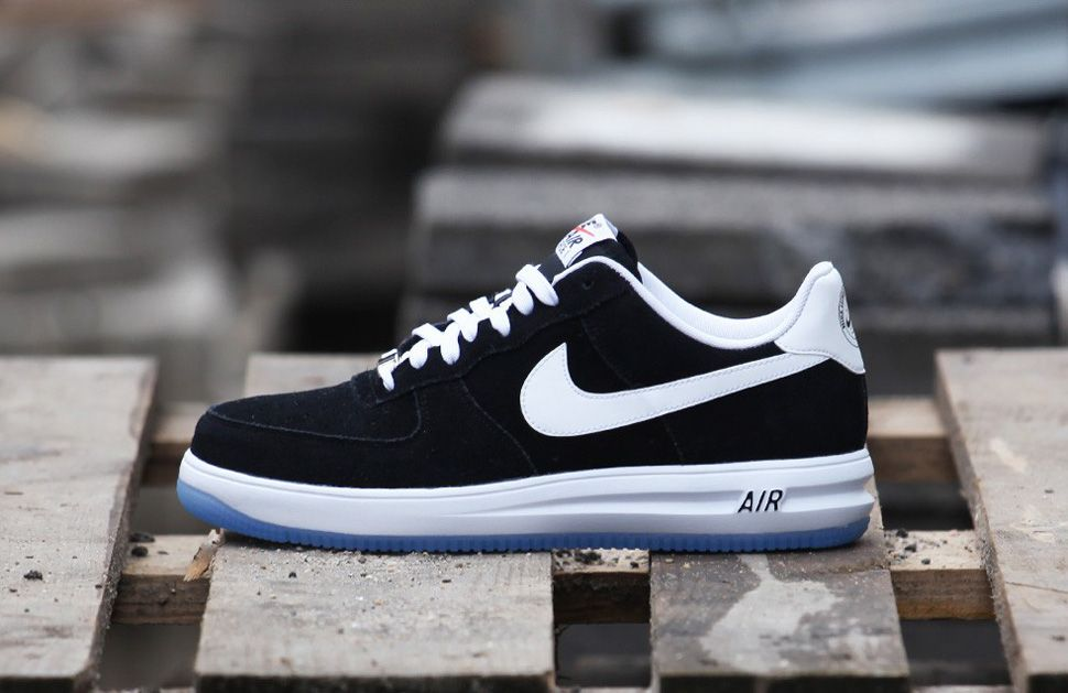 air force one black white nike lunarlon women