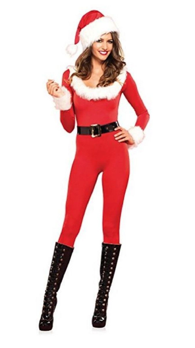 Leg Avenue Women s Sexy Santa Baby 3 Piece Holiday Catsuit Christmas Costume  (Large) eba59b489d50