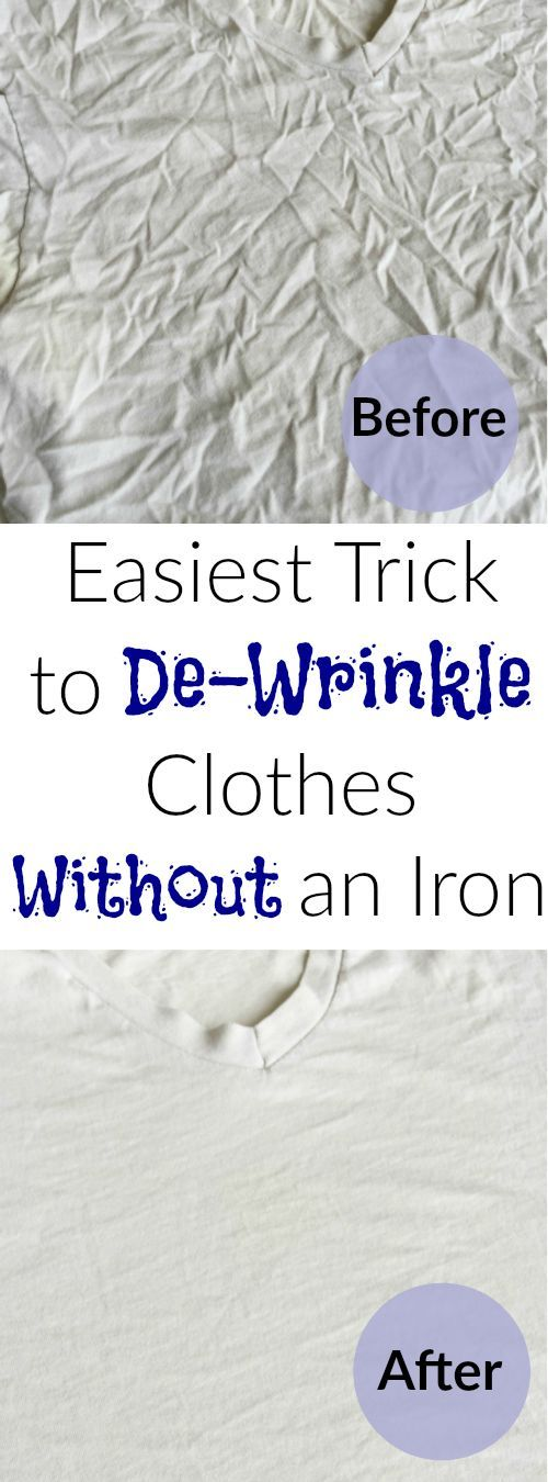 This is seriously the easiest trick ever to de-wrinkle clothes without an iron.