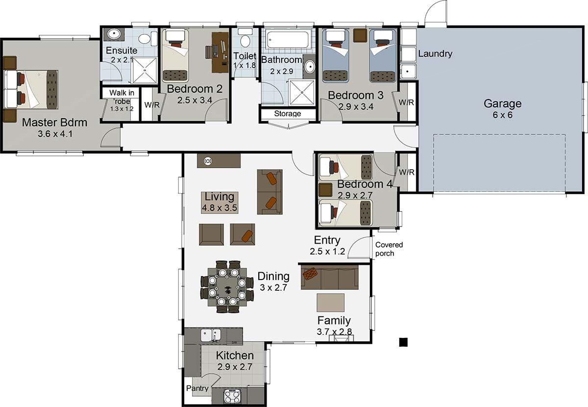 accolade 4 bedroom house plan landmark homes builder nz