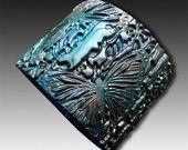 Medieval polymer clay cuff bracelet. $16.00, via Etsy.