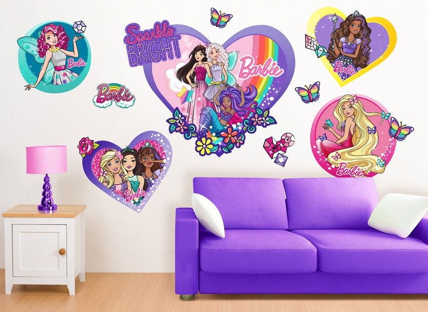 barbie sparkle friends frames wall decals wall decals on wall stickers for home id=12052